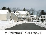 houses in residential community ... | Shutterstock . vector #501175624