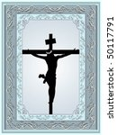 decorated frame with jesus... | Shutterstock .eps vector #50117791