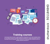 learning training courses... | Shutterstock .eps vector #501184840