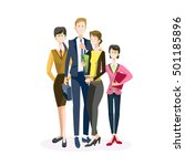 smiling business people group... | Shutterstock .eps vector #501185896