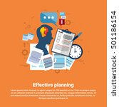 effective planning strategy... | Shutterstock .eps vector #501186154