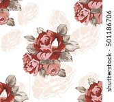 seamless floral pattern with... | Shutterstock .eps vector #501186706