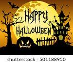happy halloween night...   Shutterstock .eps vector #501188950