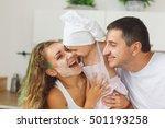 adorable caucasian family... | Shutterstock . vector #501193258