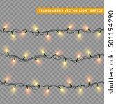 christmas lights isolated... | Shutterstock .eps vector #501194290