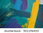 colored paint strokes. abstract ... | Shutterstock . vector #501196453