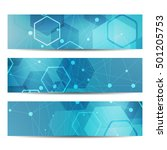 abstract geometric banners...   Shutterstock .eps vector #501205753