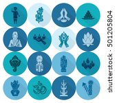 diwali. indian festival icons.... | Shutterstock . vector #501205804