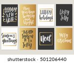 christmas. new year calligraphy ... | Shutterstock .eps vector #501206440