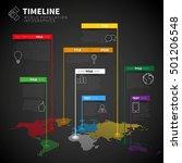infographic timeline report... | Shutterstock .eps vector #501206548