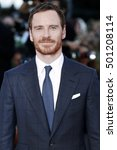 Small photo of VENICE, ITALY - SEPTEMBER 01: Actor Michael Fassbender attends the premiere of 'The Light Between Oceans' during the 73rd Venice Film Festival on September 1, 2016 in Venice, Italy.
