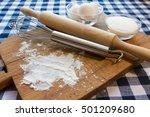 food background. dough... | Shutterstock . vector #501209680