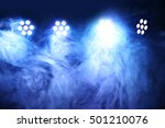 stage lights and smoke | Shutterstock . vector #501210076