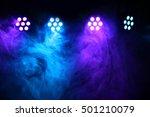 Stage Lights And Smoke