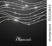 diamond sparkling beads   eps10 ... | Shutterstock .eps vector #501213613