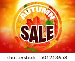 sale. offer card. autumn... | Shutterstock .eps vector #501213658