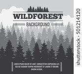 wild coniferous pine forest... | Shutterstock .eps vector #501214120