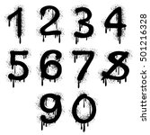 grunge vector numbers with... | Shutterstock .eps vector #501216328