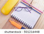 open notebook  free space for... | Shutterstock . vector #501216448