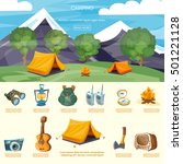 camping infographic elements... | Shutterstock .eps vector #501221128