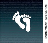 web icon. foot   Shutterstock .eps vector #501230728