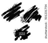 monochrome ink brush vector eps ... | Shutterstock .eps vector #501231754