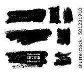 monochrome ink brush vector...   Shutterstock .eps vector #501231910