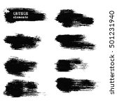 monochrome ink brush vector... | Shutterstock .eps vector #501231940