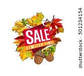 autumn sale design template ... | Shutterstock .eps vector #501234154