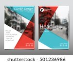 blue and red cover business... | Shutterstock .eps vector #501236986