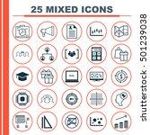 set of 25 universal editable... | Shutterstock .eps vector #501239038