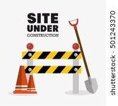 tools site under construction... | Shutterstock .eps vector #501243370