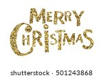merry christmas gold design... | Shutterstock .eps vector #501243868