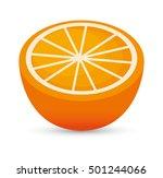 juicy orange sliced healthy... | Shutterstock .eps vector #501244066
