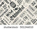 seamless black and white... | Shutterstock .eps vector #501246010