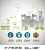 environmental issues... | Shutterstock .eps vector #501248854