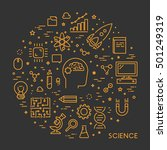 line web concept for science.... | Shutterstock . vector #501249319