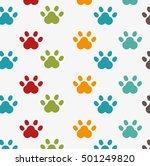 footprint seamless pattern... | Shutterstock .eps vector #501249820
