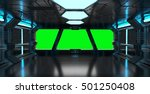 spaceship blue interior with... | Shutterstock . vector #501250408