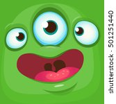 cartoon monster face. vector... | Shutterstock .eps vector #501251440