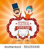 poster festival funfair clown... | Shutterstock .eps vector #501252430