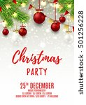 christmas party flyer template. ...   Shutterstock .eps vector #501256228