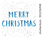 merry christmas typography.... | Shutterstock .eps vector #501256948