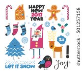 christmas set for your cards | Shutterstock .eps vector #501257158