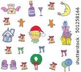object christmas set doodles... | Shutterstock .eps vector #501258166