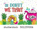 illustration with donuts.... | Shutterstock .eps vector #501259306