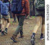 friends walking exploring... | Shutterstock . vector #501260020