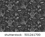 seamless pattern hand drawn... | Shutterstock .eps vector #501261700