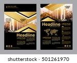 gold brochure layout design... | Shutterstock .eps vector #501261970