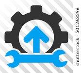 blue and gray gear integration...   Shutterstock .eps vector #501263296